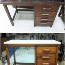 Antes y después escritorio