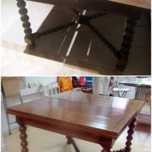 Antes y después mesa