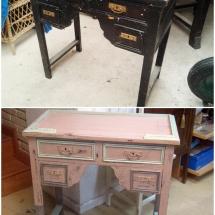 Antes y después mueble auxiliar