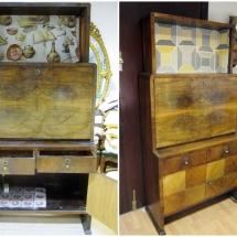 antes y después mueble bar restauralo
