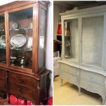 antes y después vitrina restauralo